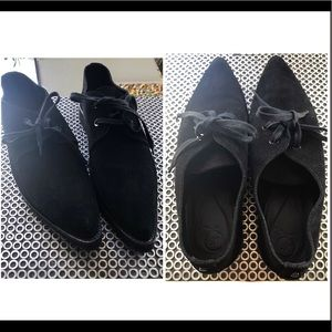 New Alexander Mc Queen McQ pointy suede loafers  9
